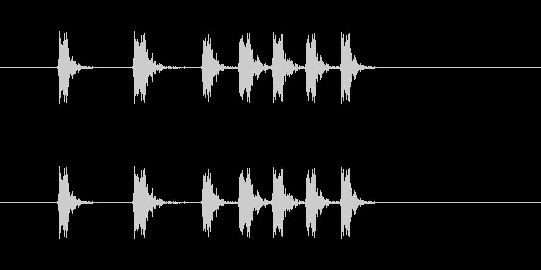 パッペパペパ(コミカル、リズム)の未再生の波形