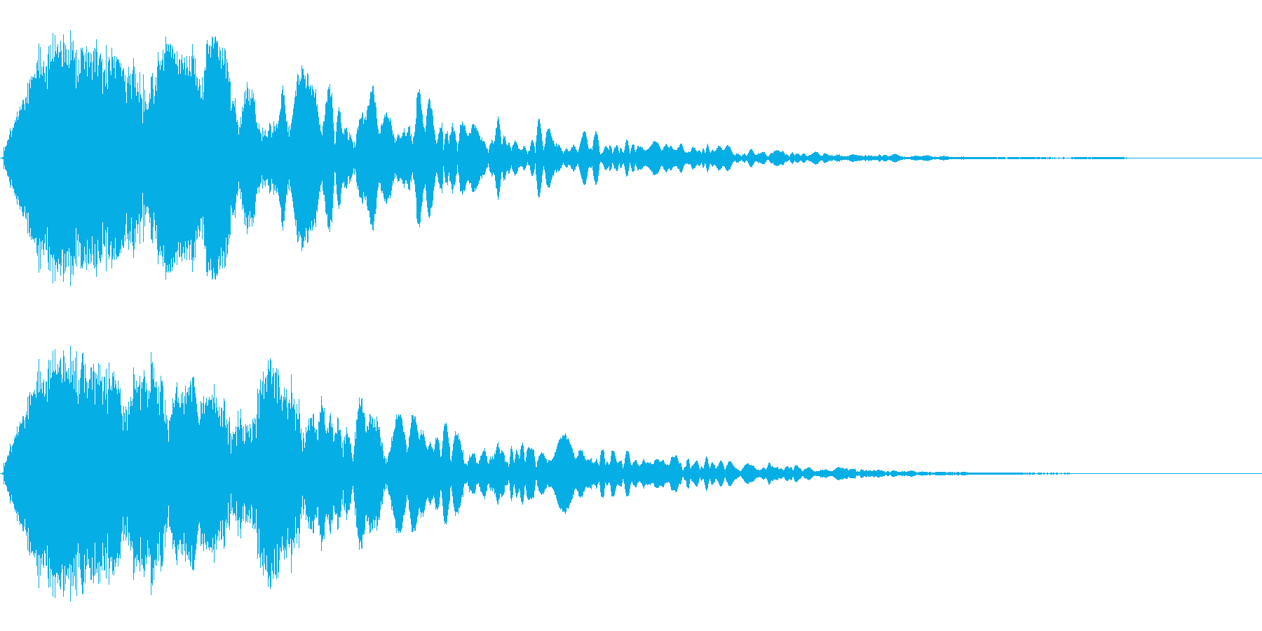 シャキーン!の再生済みの波形