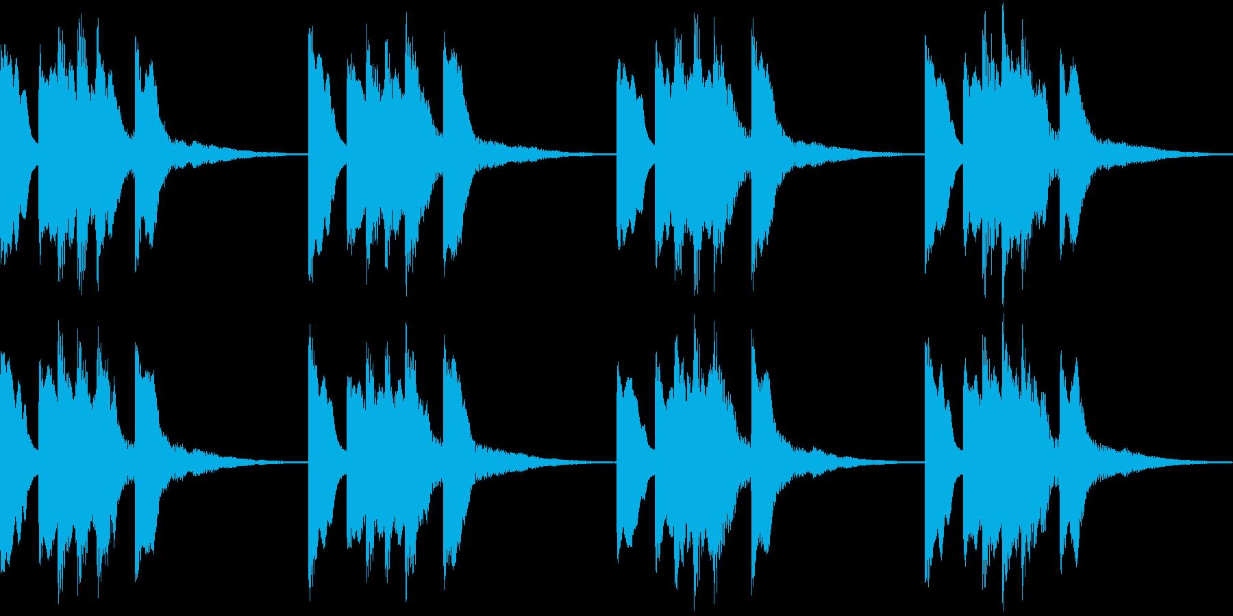 シンプル ベル 着信音 チャイム B12の再生済みの波形