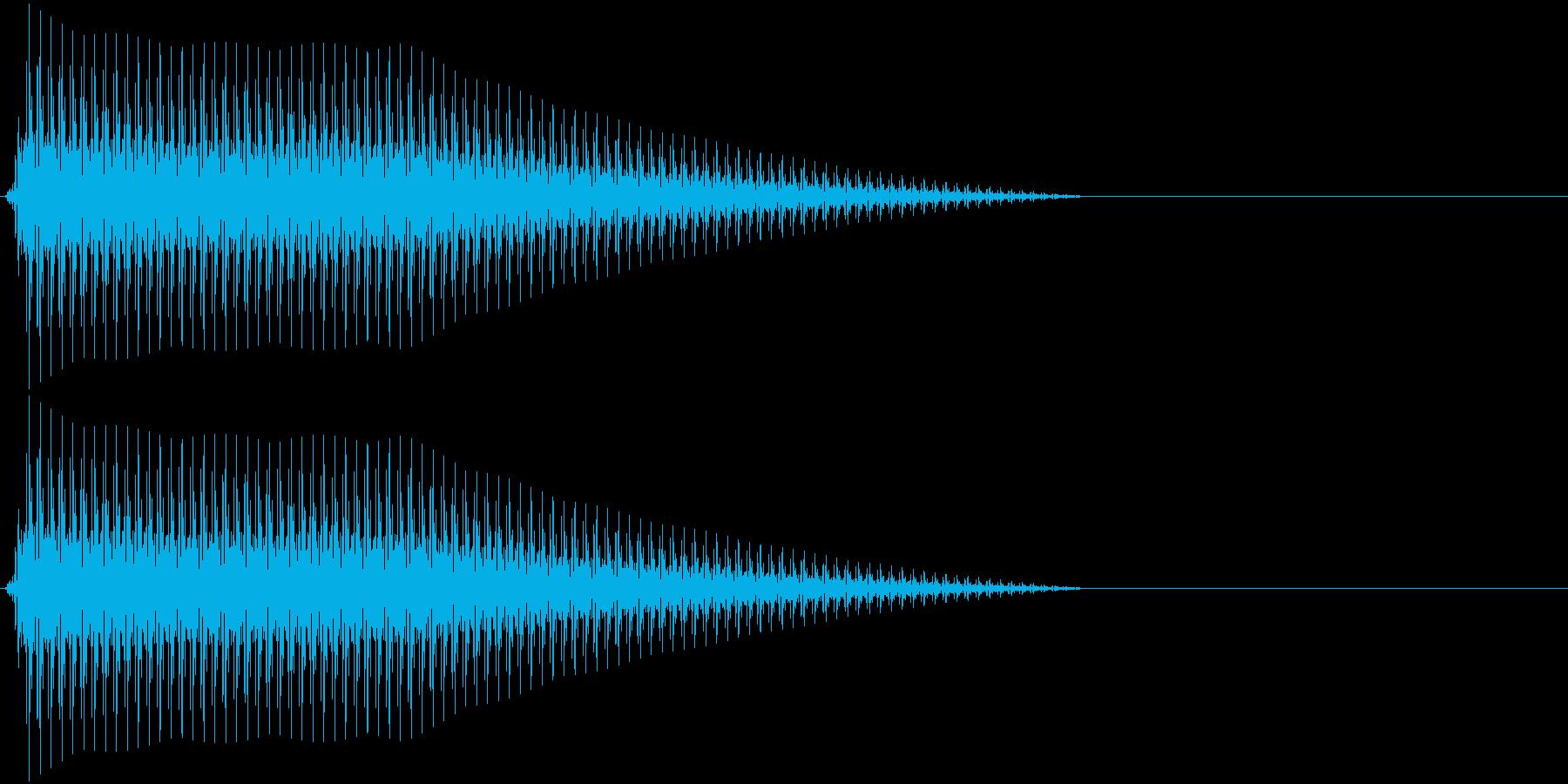 OctaveCom アプリ用タッチ音10の再生済みの波形