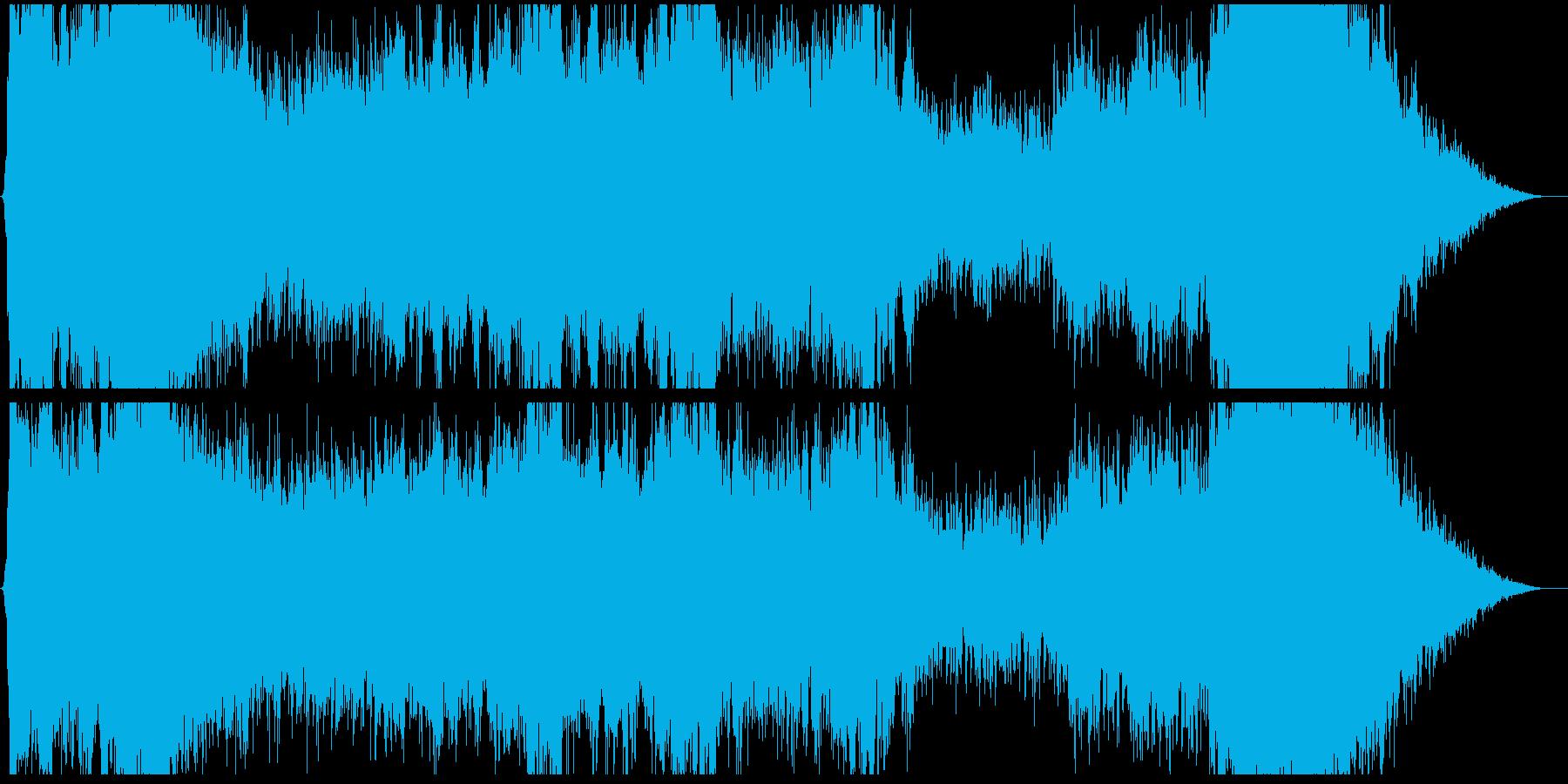 壮大なコーラスによるRPGボス戦闘曲の再生済みの波形