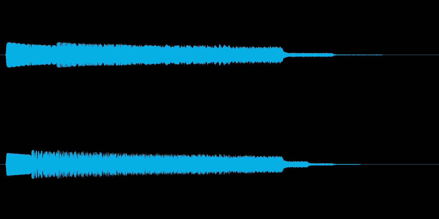 レーザー音 ビュルルルの再生済みの波形