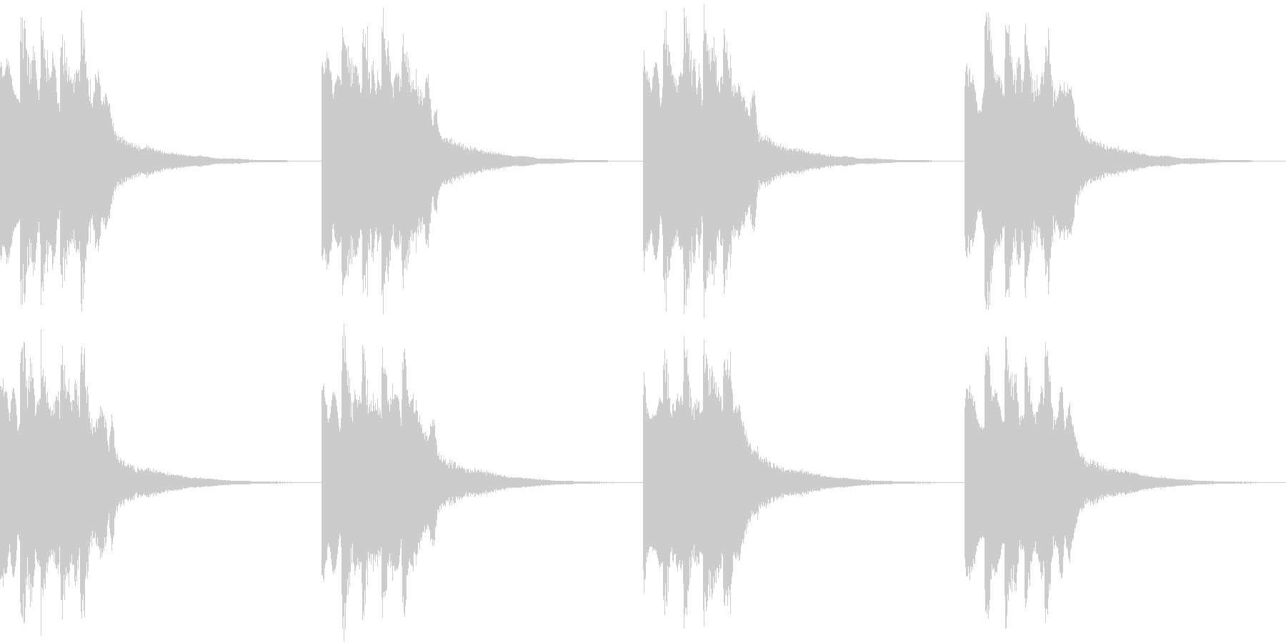 シンプル ベル 着信音 チャイム B13の未再生の波形
