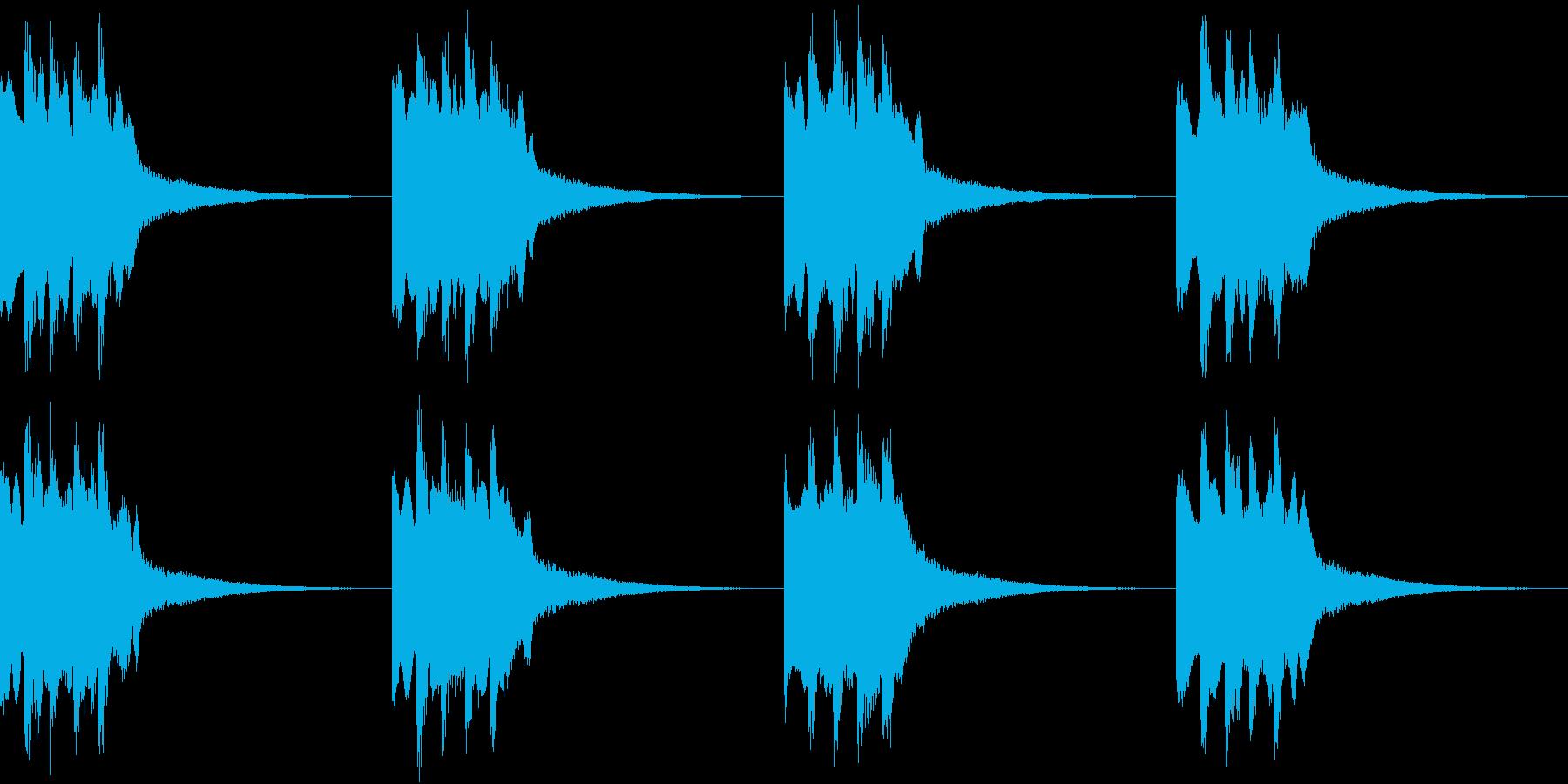 シンプル ベル 着信音 チャイム B13の再生済みの波形