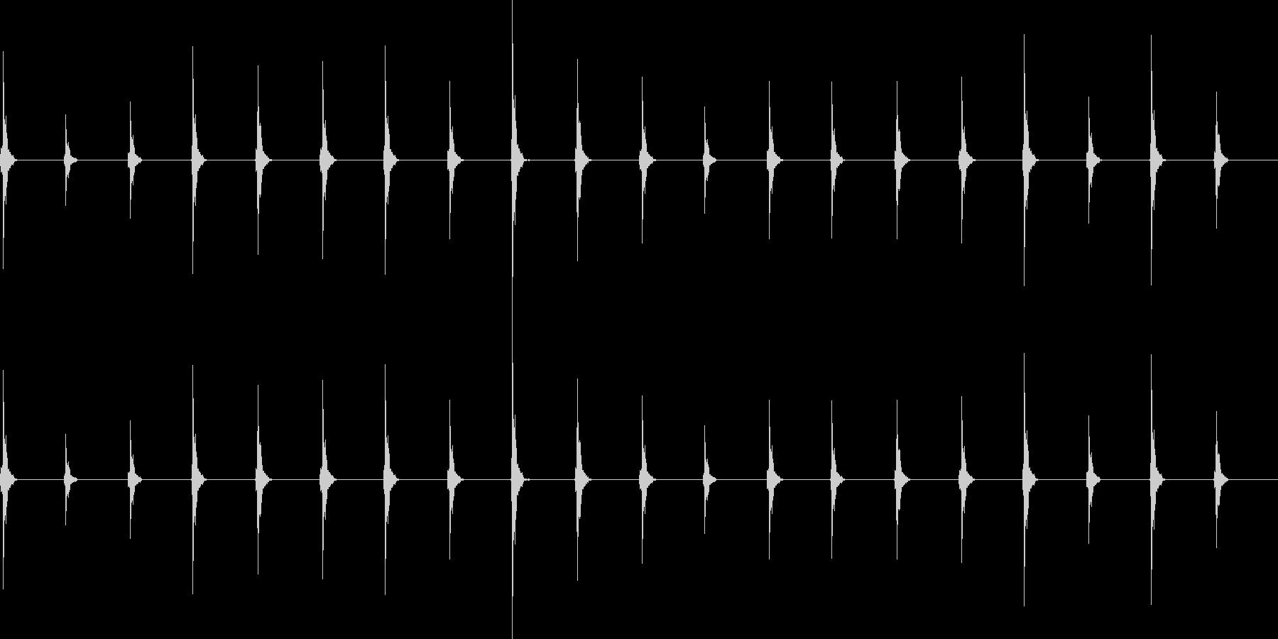 時計の音 自然音を使用 わかりやすいの未再生の波形