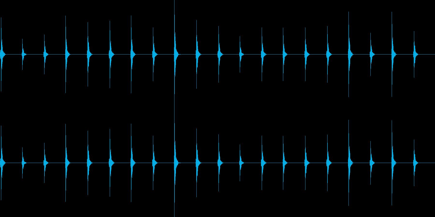 時計の音 自然音を使用 わかりやすいの再生済みの波形