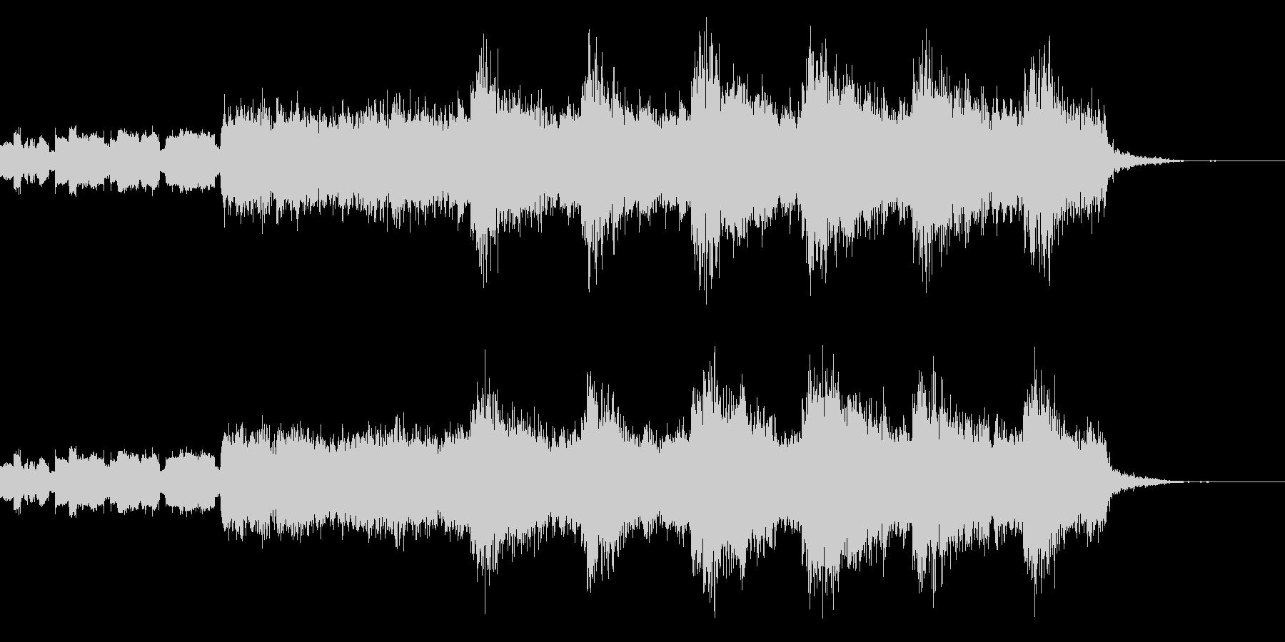 不穏なBGM2の未再生の波形