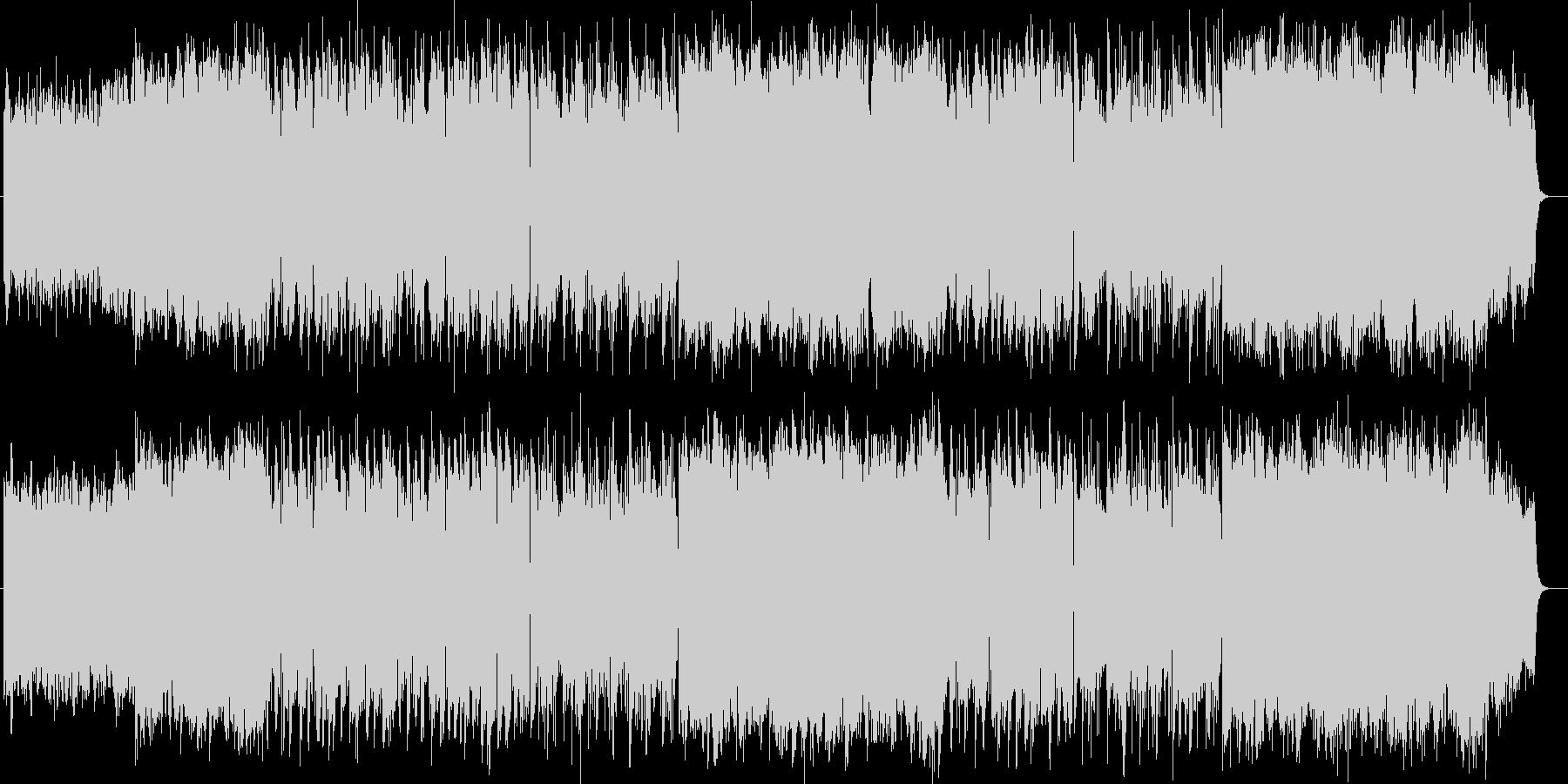 雄大で美しいシンセサイザーサウンドの未再生の波形