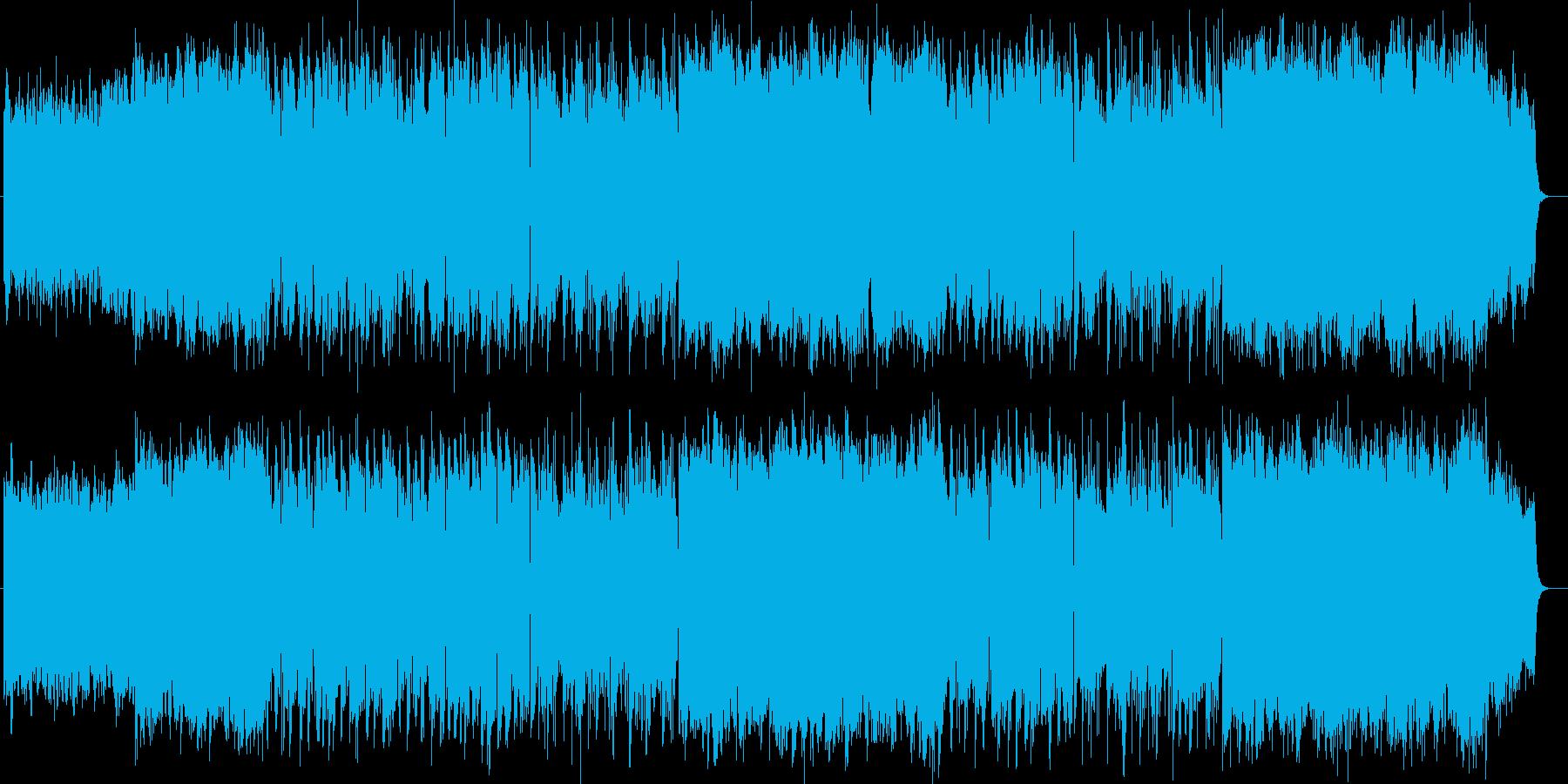 雄大で美しいシンセサイザーサウンドの再生済みの波形