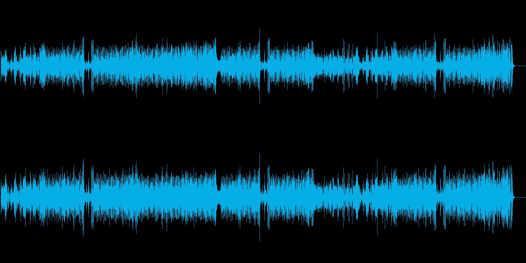 大胆なピアノ・プレイのフュージョンの再生済みの波形