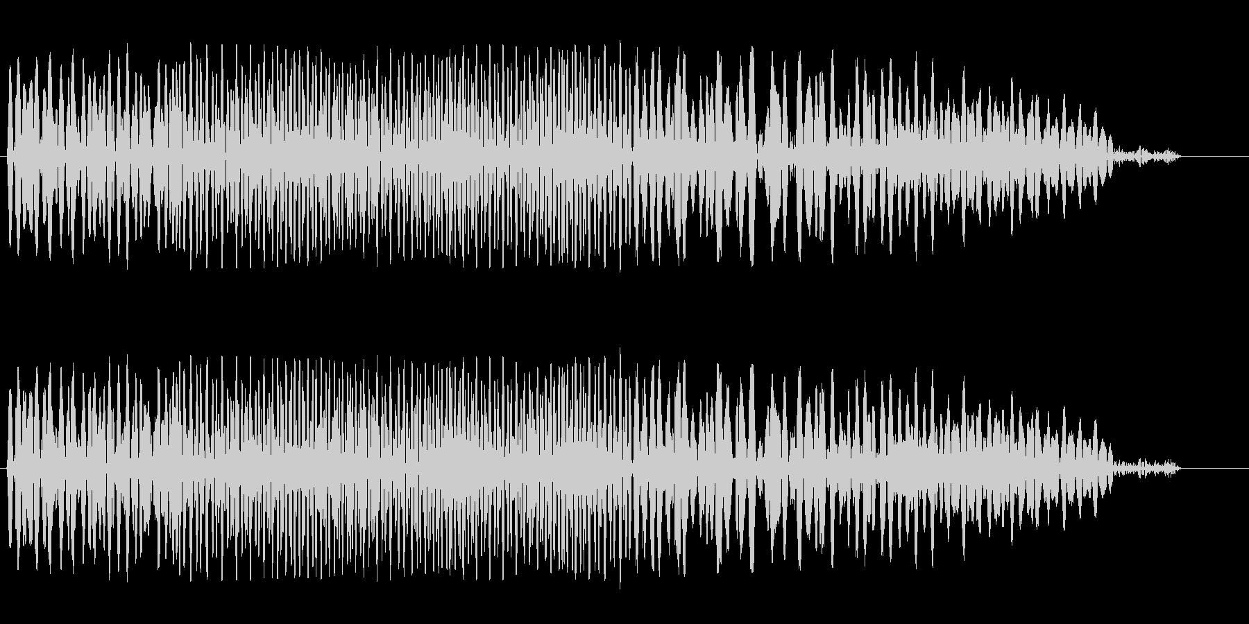ゲートが開く音(低い)の未再生の波形