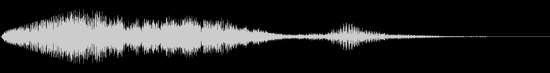シンセサイザーの空間的な音階の効果音の未再生の波形