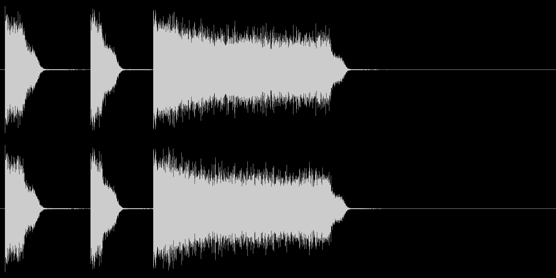 ビリビリビリ 雷 感電 シビレ音の未再生の波形