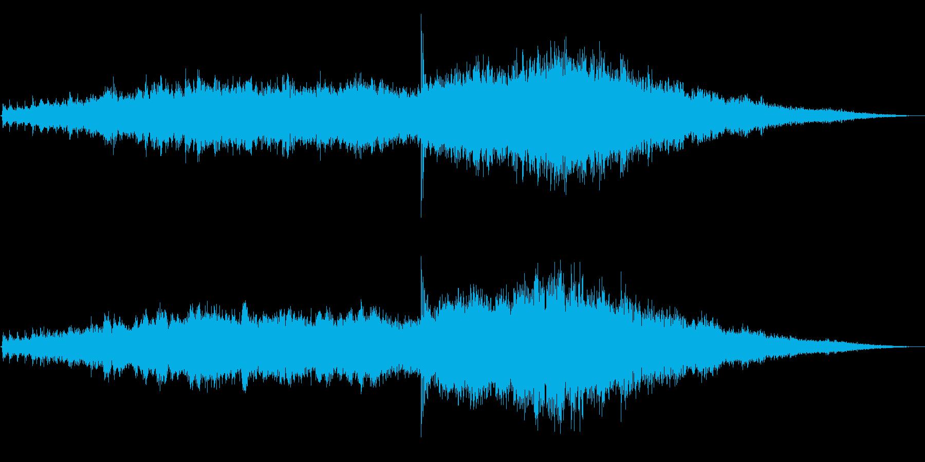 ヘリコプター/離陸前/エンジン音!01の再生済みの波形