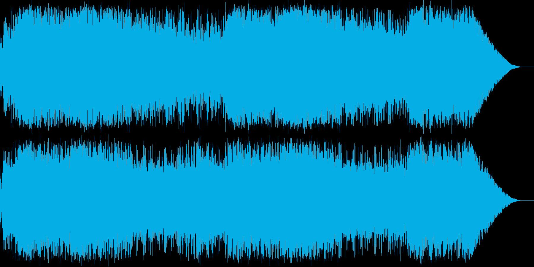 戦士の登場シーン エレキで派手な雰囲気の再生済みの波形