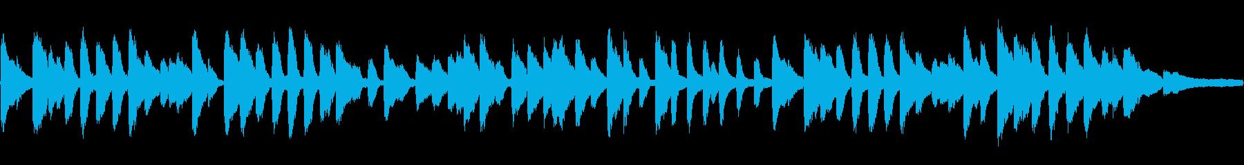 愛らしいピアノ・ソロ曲の再生済みの波形