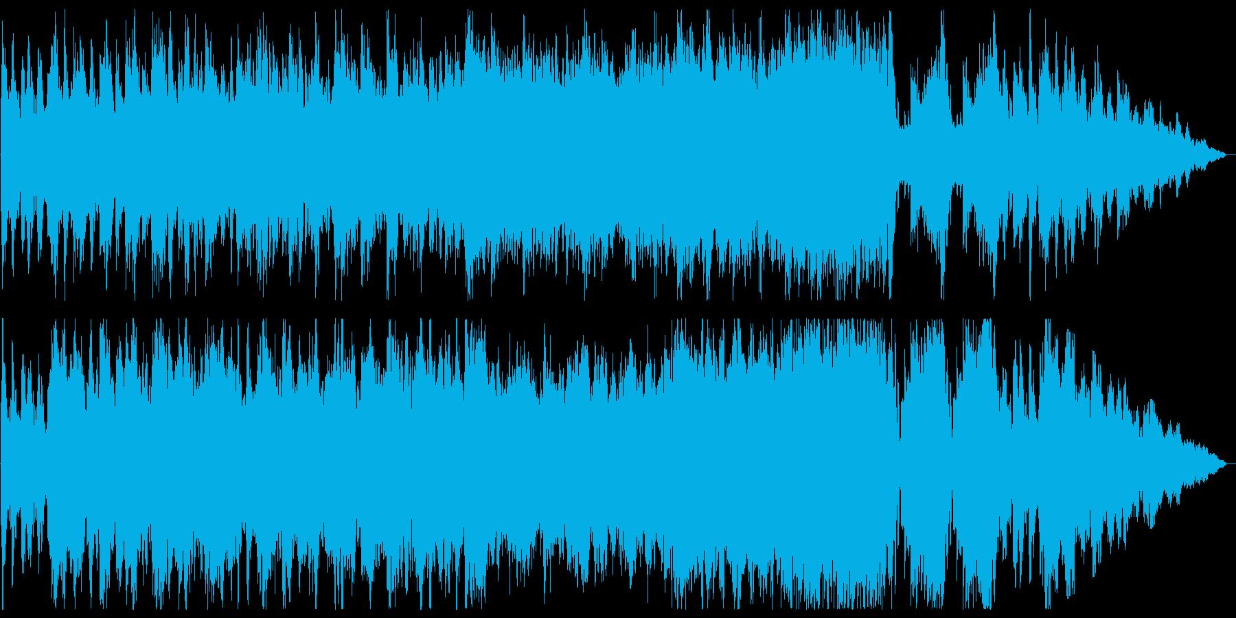疾走感のある、爽やかなオーケストラ曲の再生済みの波形