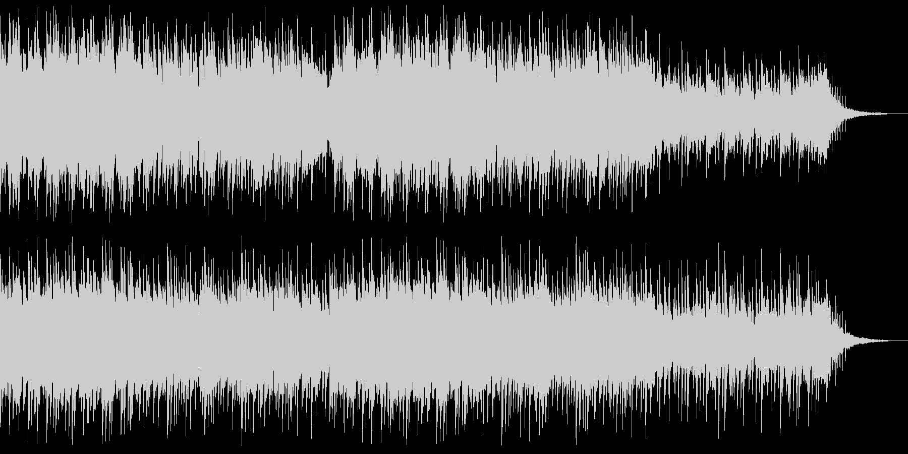 感動場面にアコースティックピアノ伴奏風曲の未再生の波形