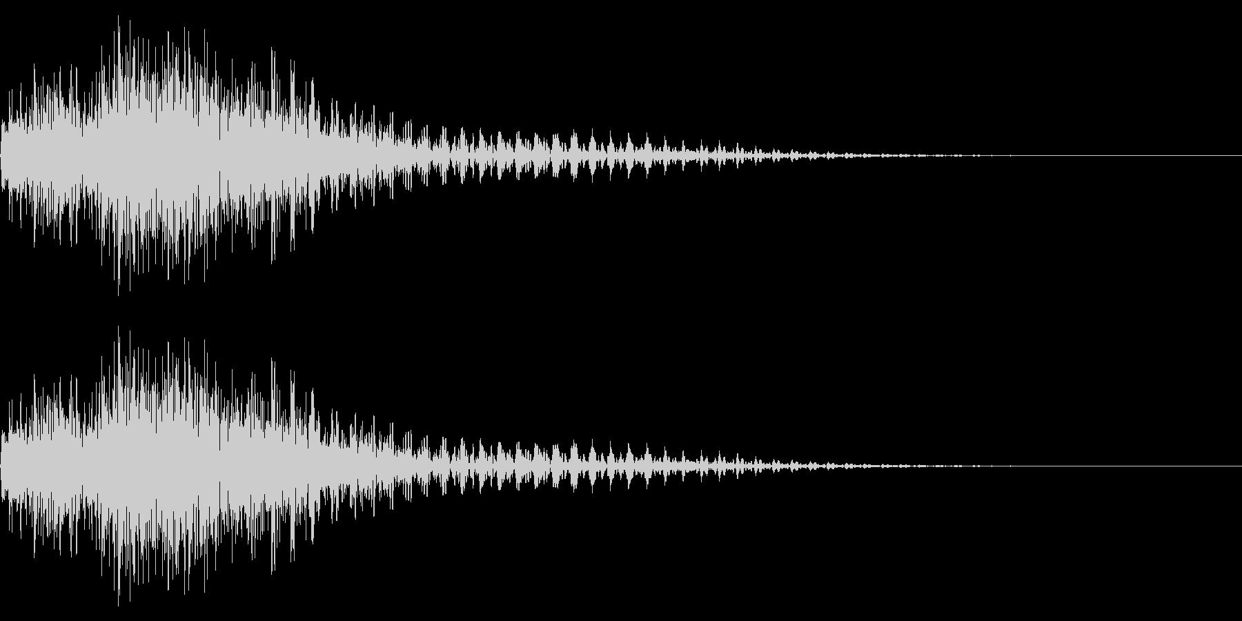 衝撃音(ギャン/ギュワン)の未再生の波形