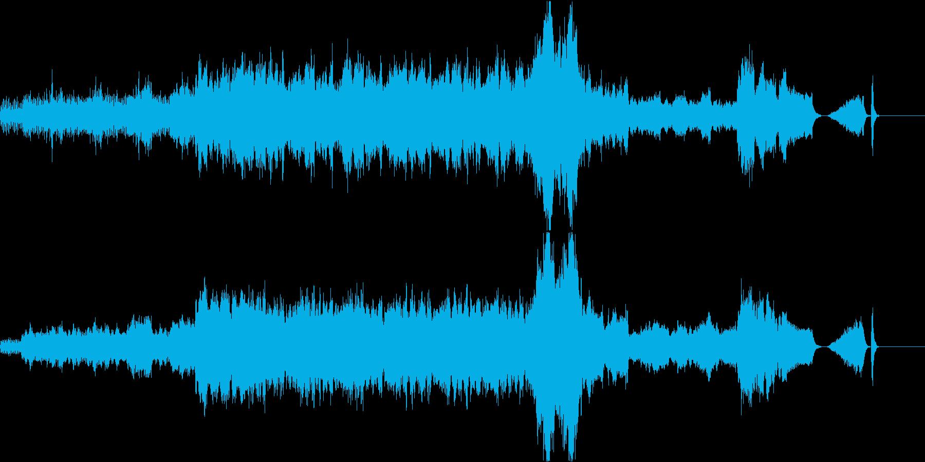 映像作品やゲーム等のオープニングBGMの再生済みの波形