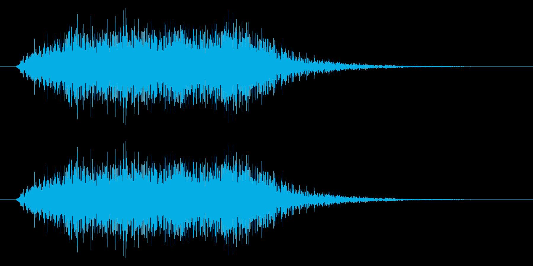 ホラー効果音 低音ブオー 奇怪なコーラスの再生済みの波形