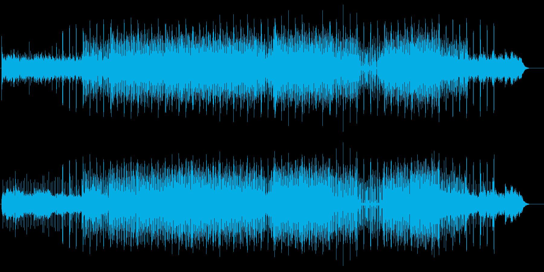 ディープハウスイメージのエレクトロポップの再生済みの波形