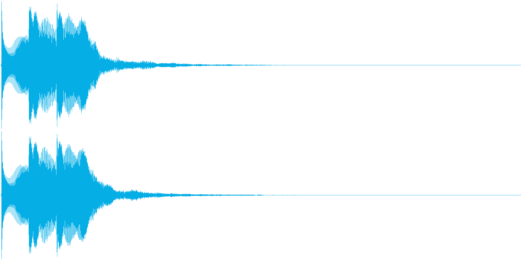 ピコピコ(決定音、ゲーム、アプリ)の再生済みの波形