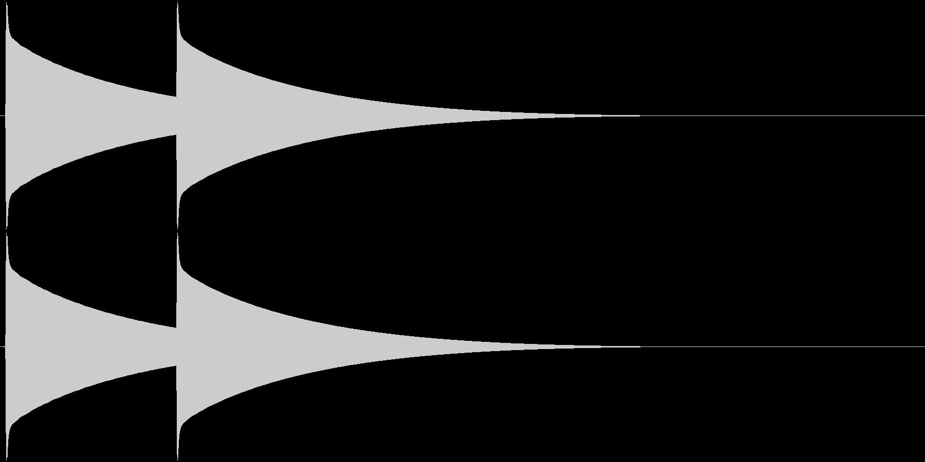 ピーンポーン(インターフォン、入店音)の未再生の波形