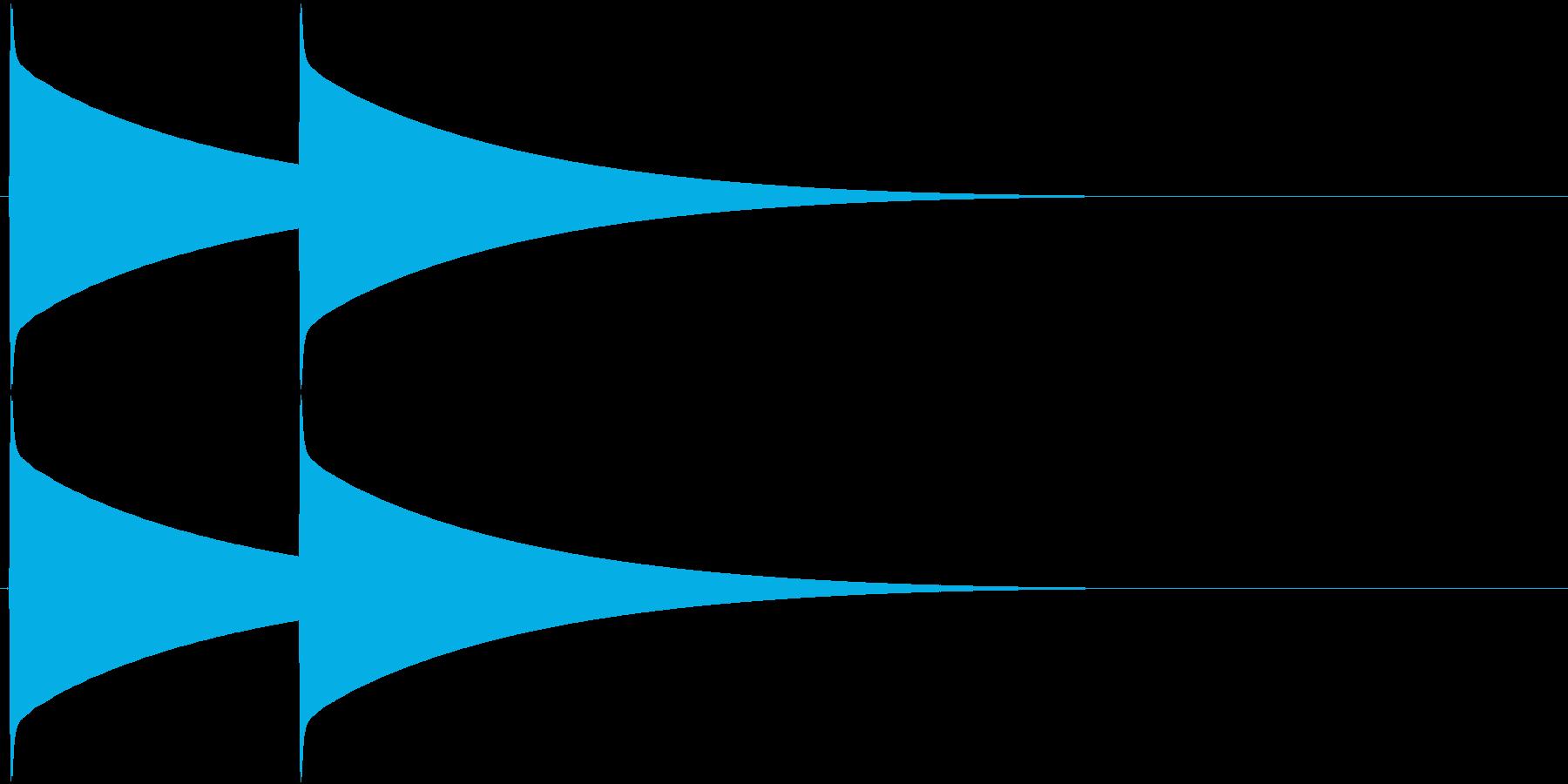 ピーンポーン(インターフォン、入店音)の再生済みの波形