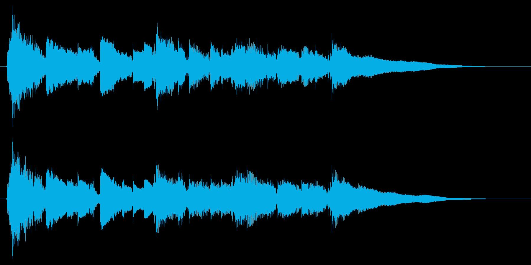 眠りと目覚めを連想させるサウンドロゴ2の再生済みの波形
