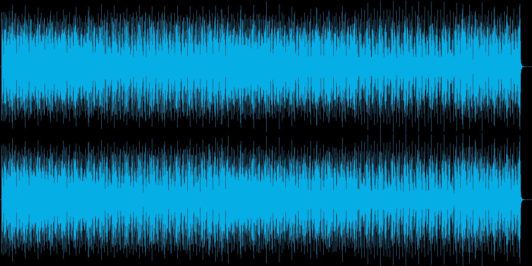 マイナーでリズミカルなテクノポップの再生済みの波形
