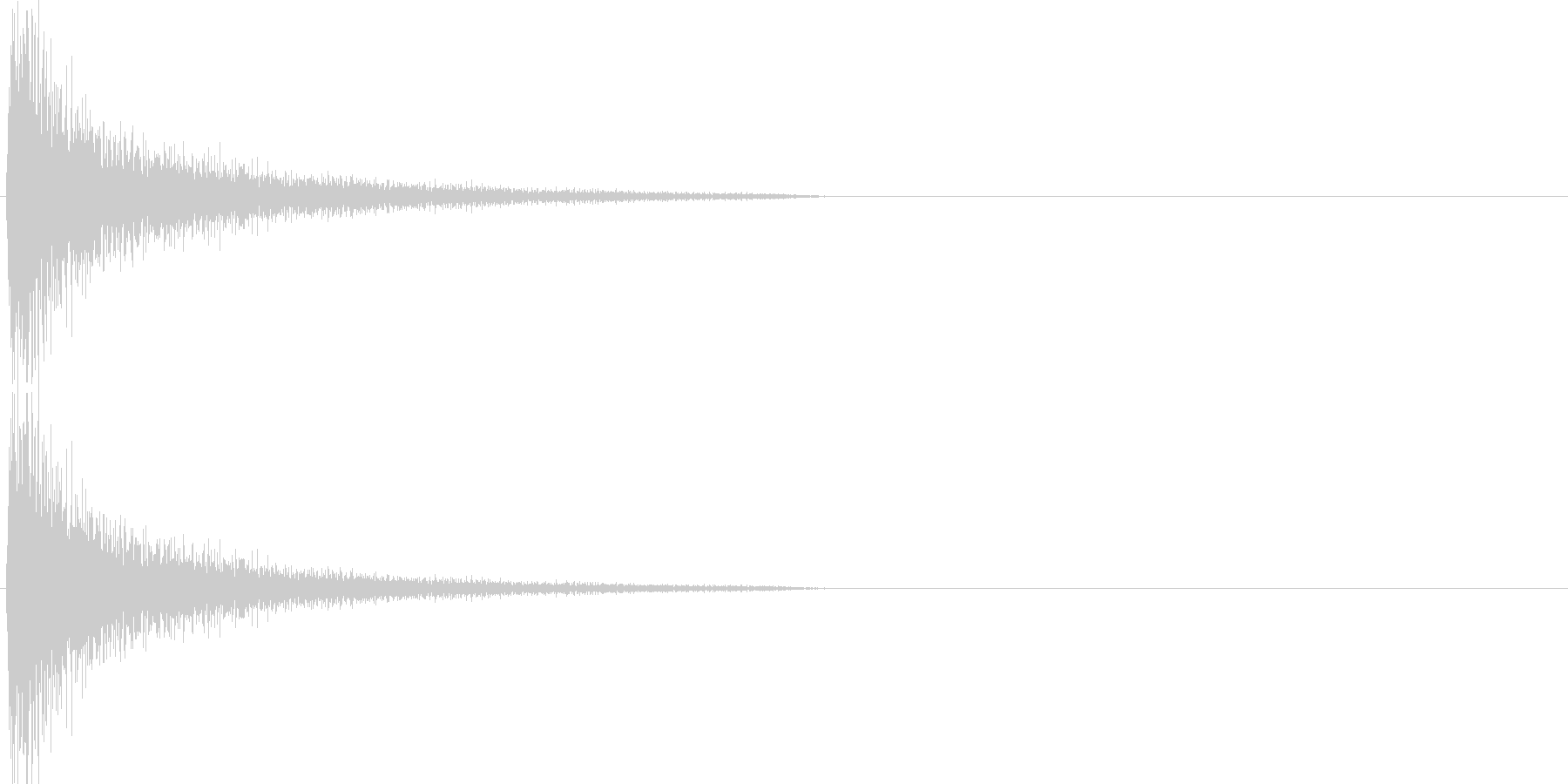 ガーン(衝撃を受けた時のピアノ音 パタ…の未再生の波形