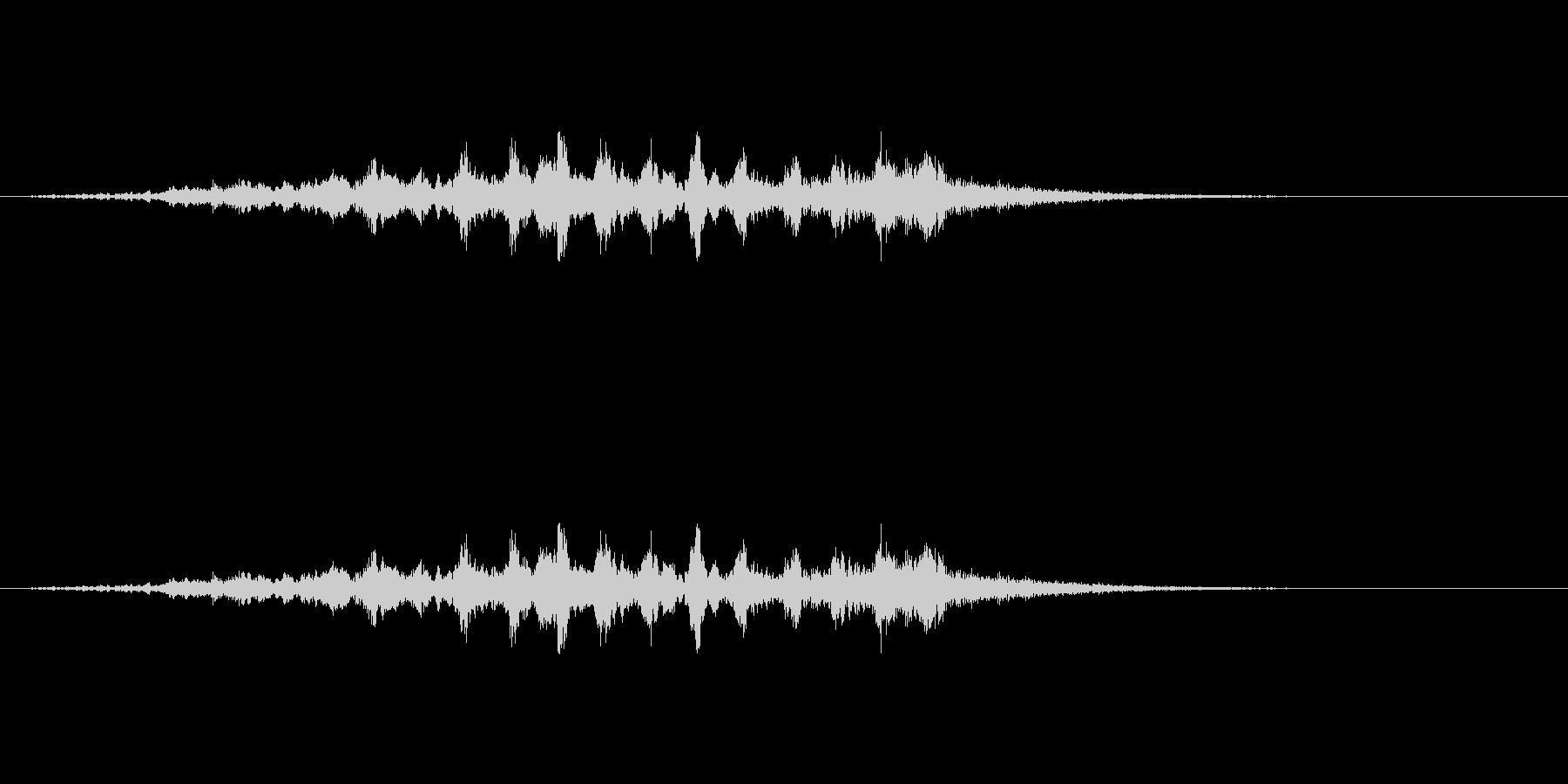 三味線ホラーの未再生の波形