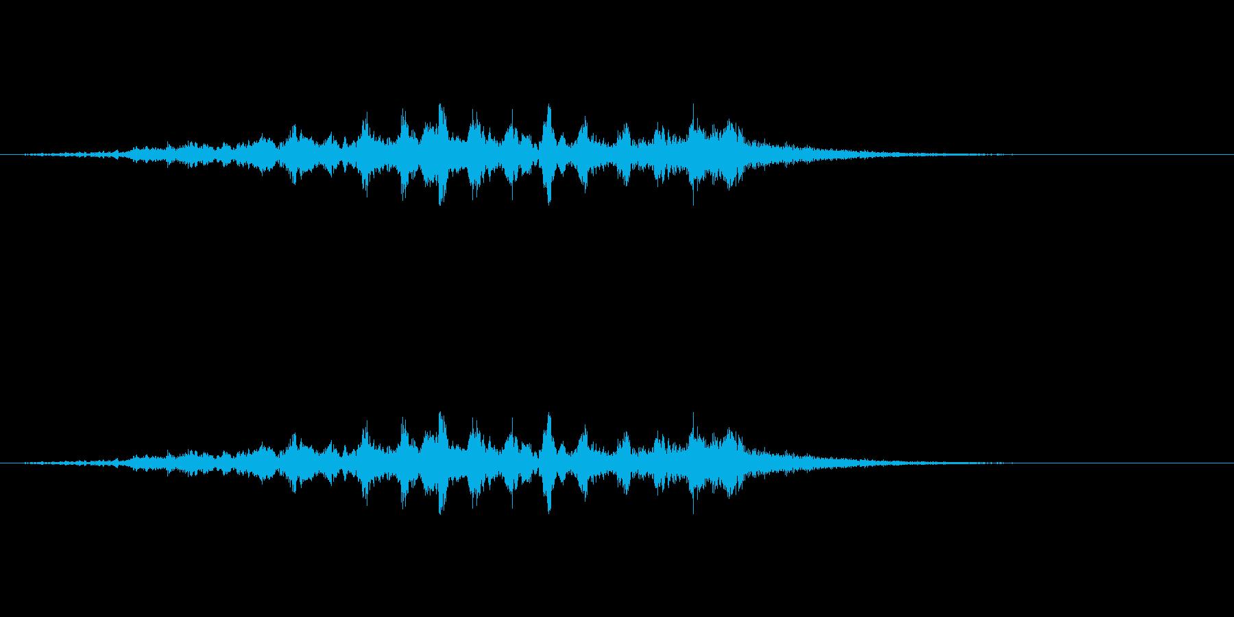 三味線ホラーの再生済みの波形