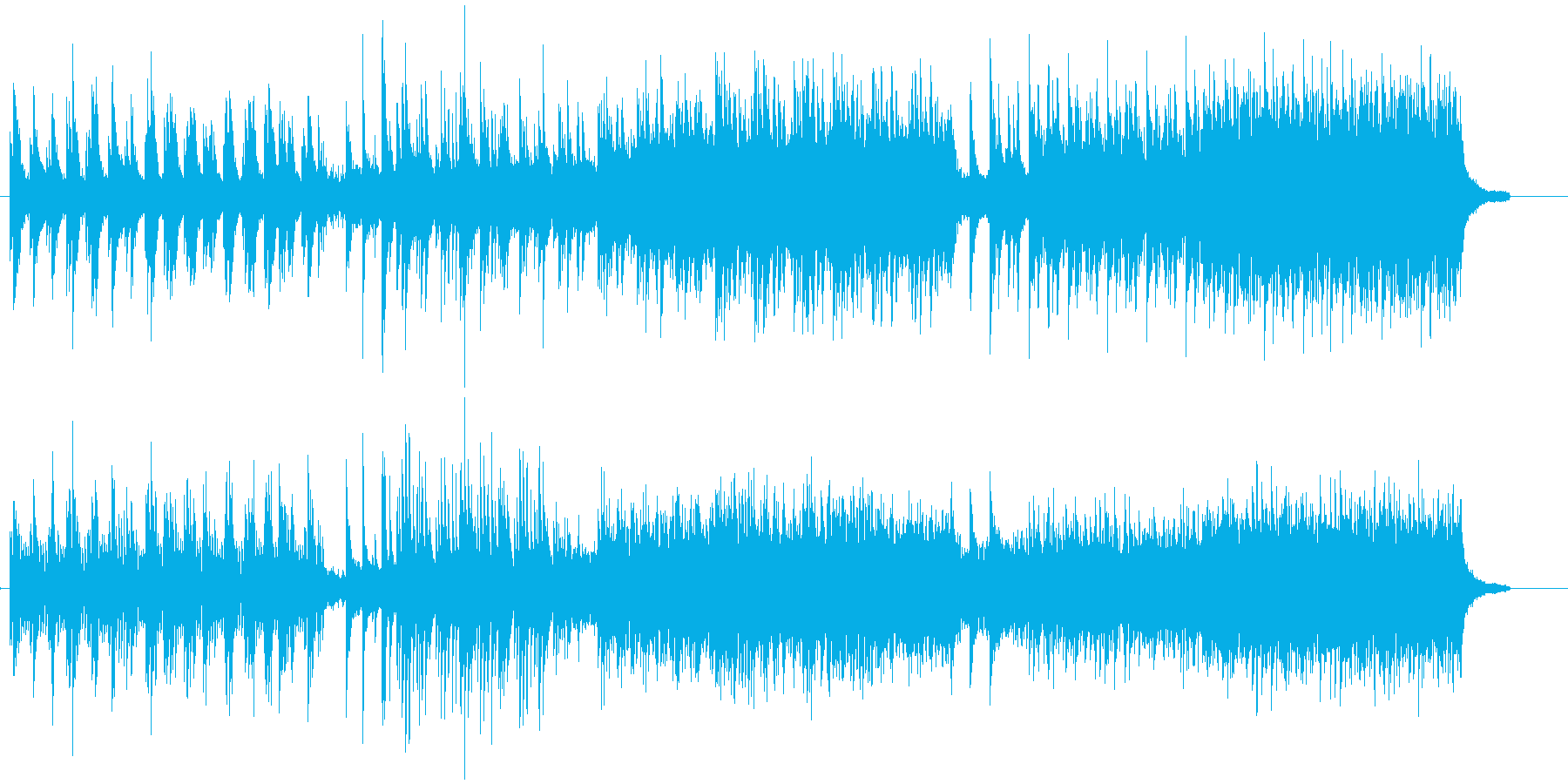 piano 音楽の再生済みの波形