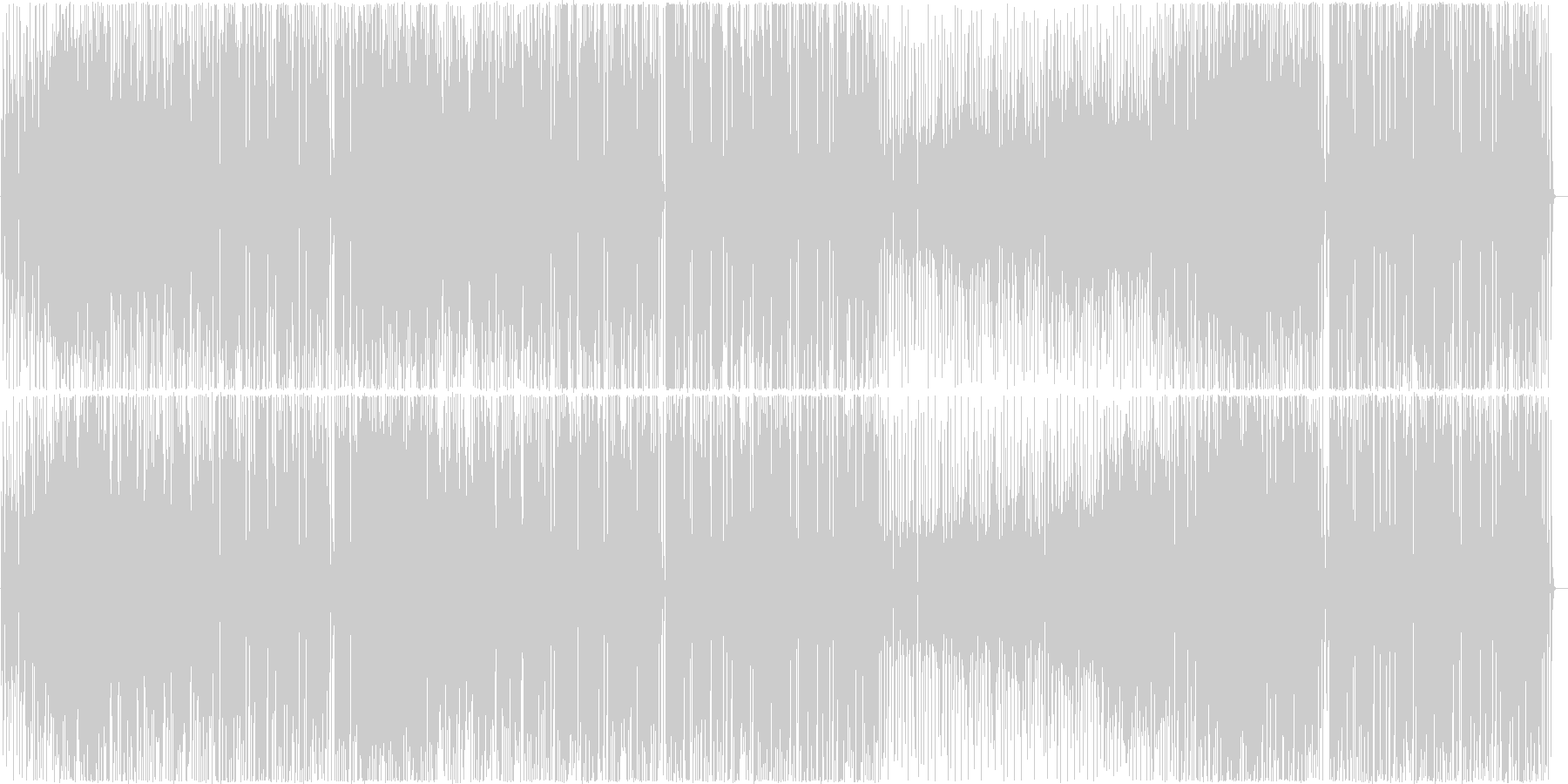 ファンキーなビッグバンド編成の曲の未再生の波形