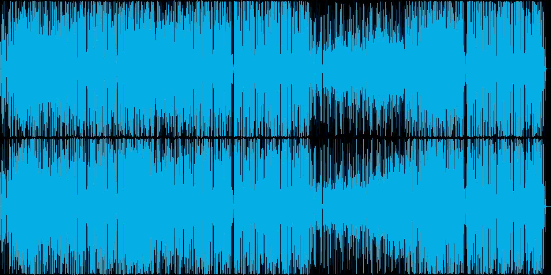 ファンキーなビッグバンド編成の曲の再生済みの波形