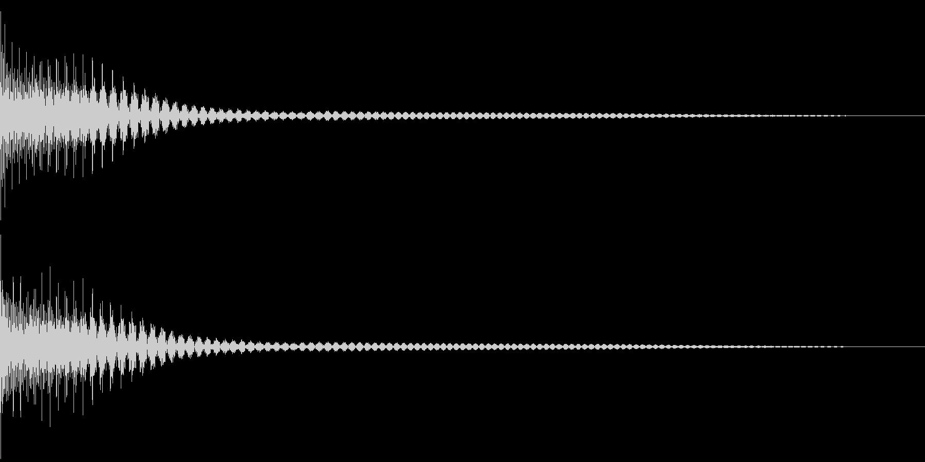 Cancel キャンセルコマンドSE 3の未再生の波形
