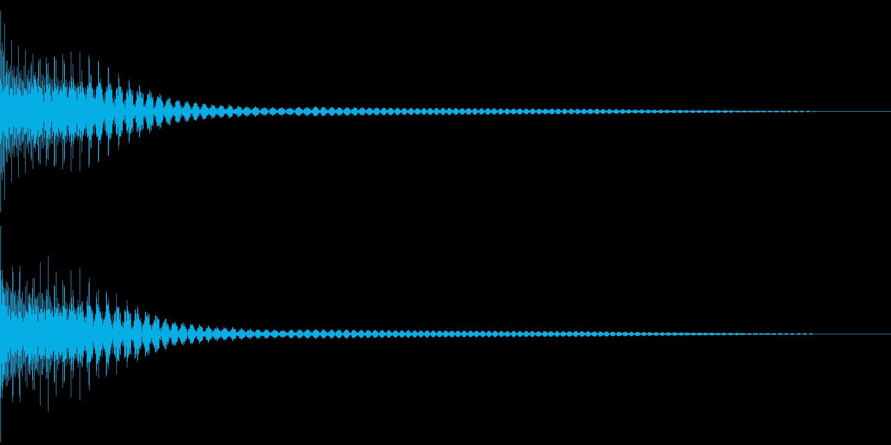 Cancel キャンセルコマンドSE 3の再生済みの波形