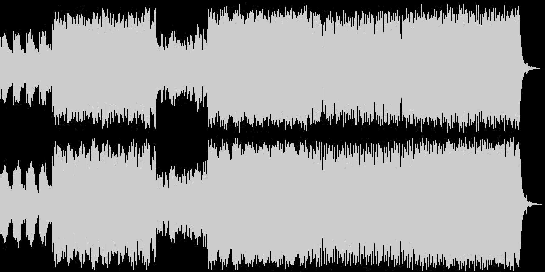 攻撃的なリードシンセとピアノの戦闘曲の未再生の波形