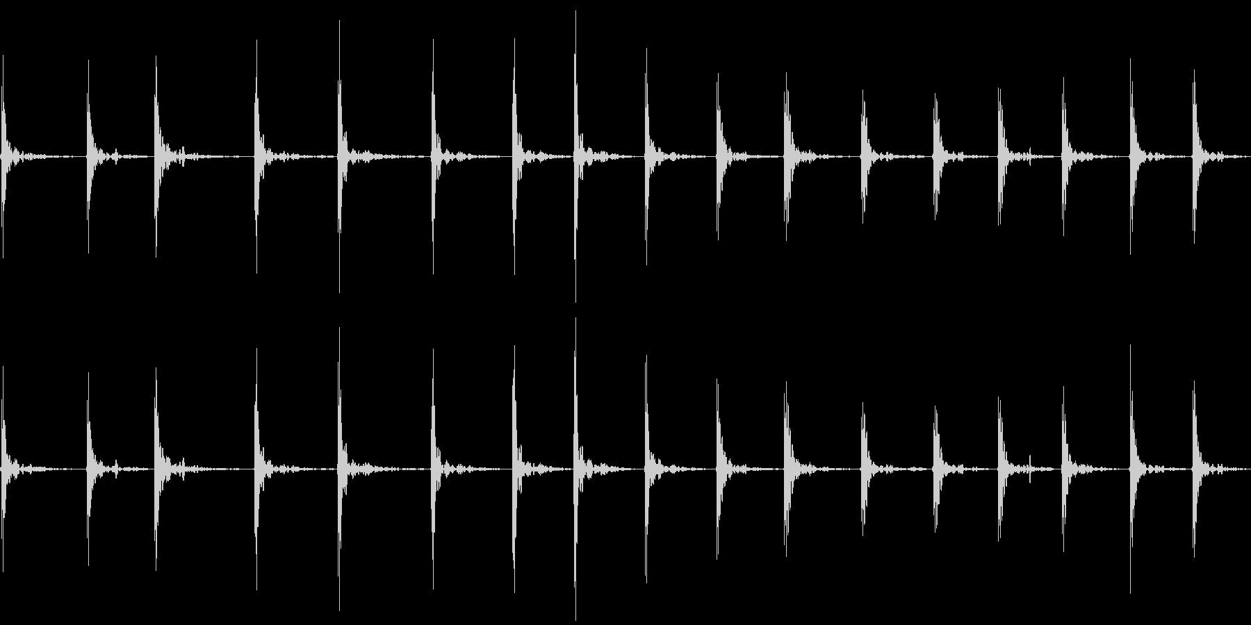 バスケットのドリブルの未再生の波形
