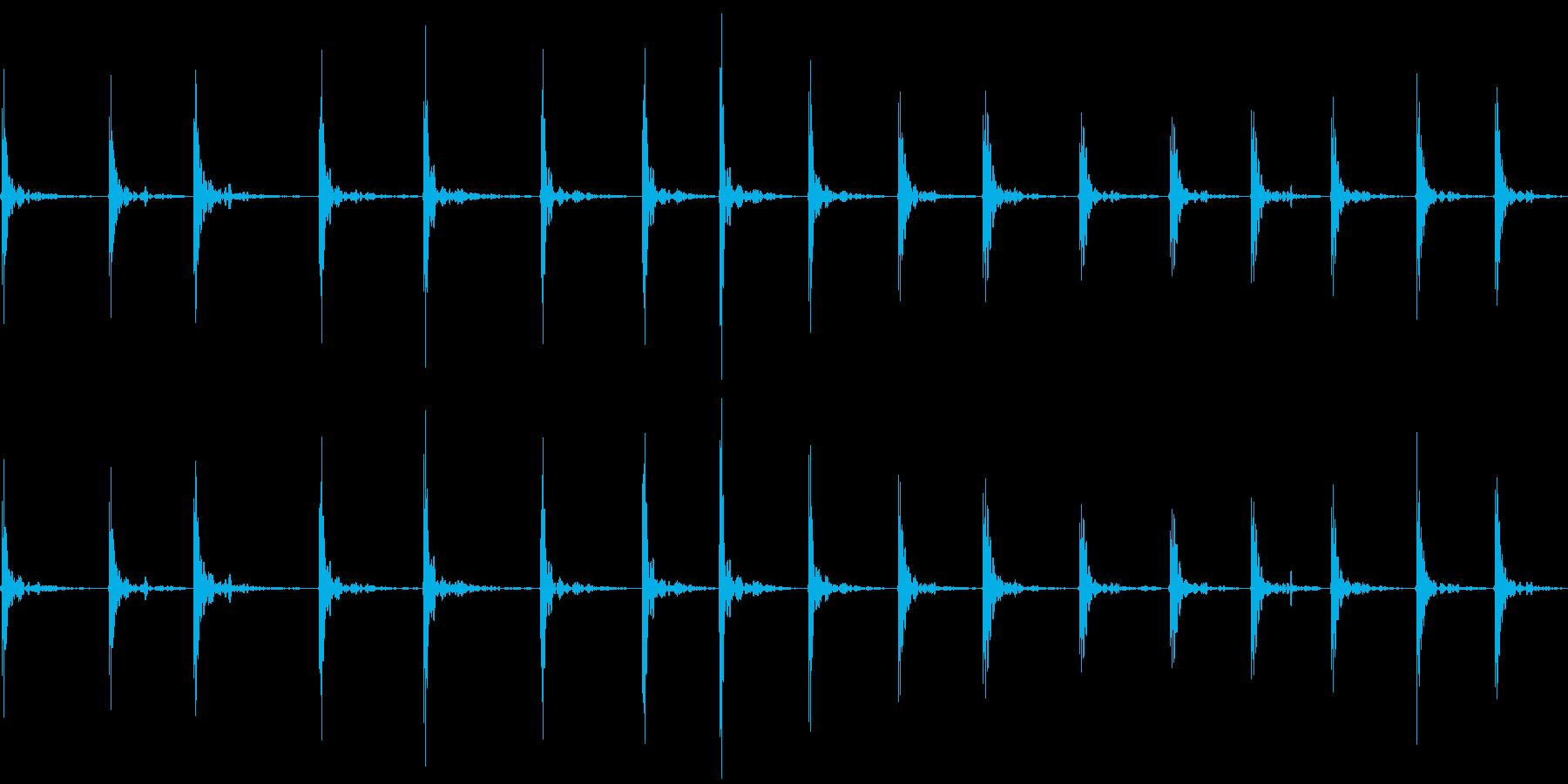 バスケットのドリブルの再生済みの波形