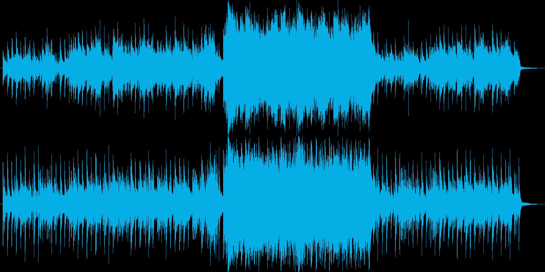 叙情的なピアノのバラードの再生済みの波形