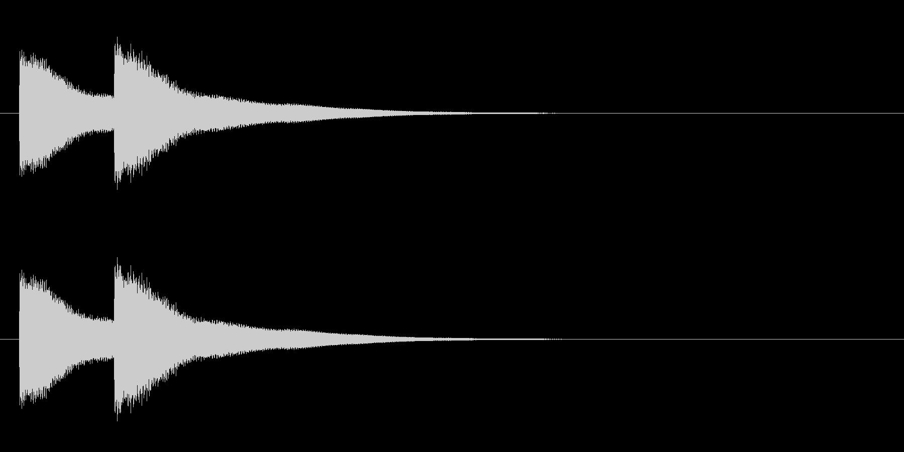 西洋式ドアチャイムの未再生の波形