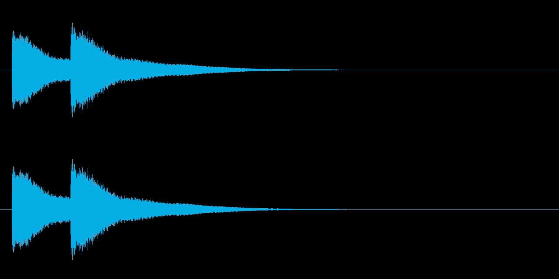 西洋式ドアチャイムの再生済みの波形