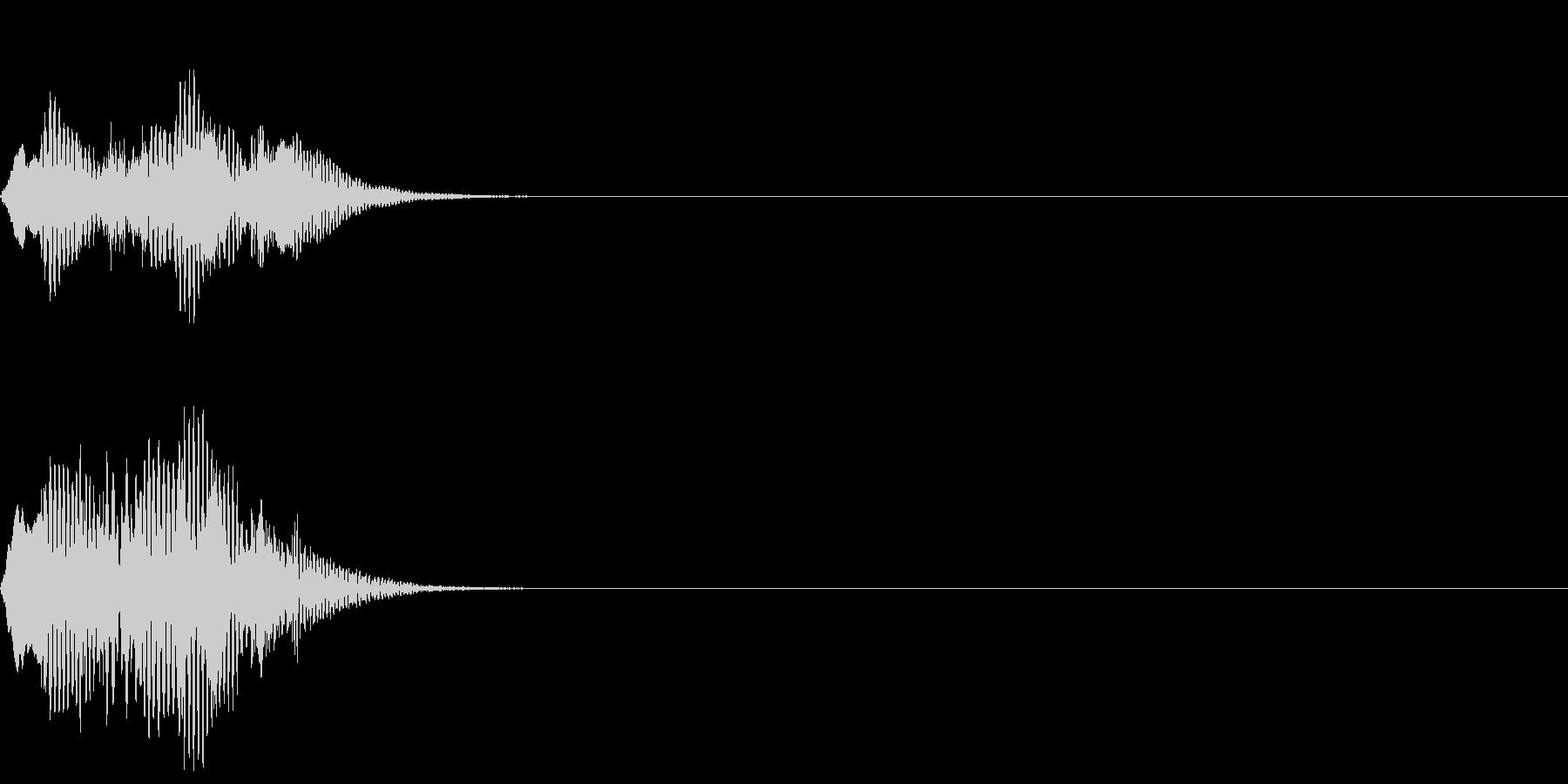 ピアノの単旋律によるサウンドロゴの未再生の波形
