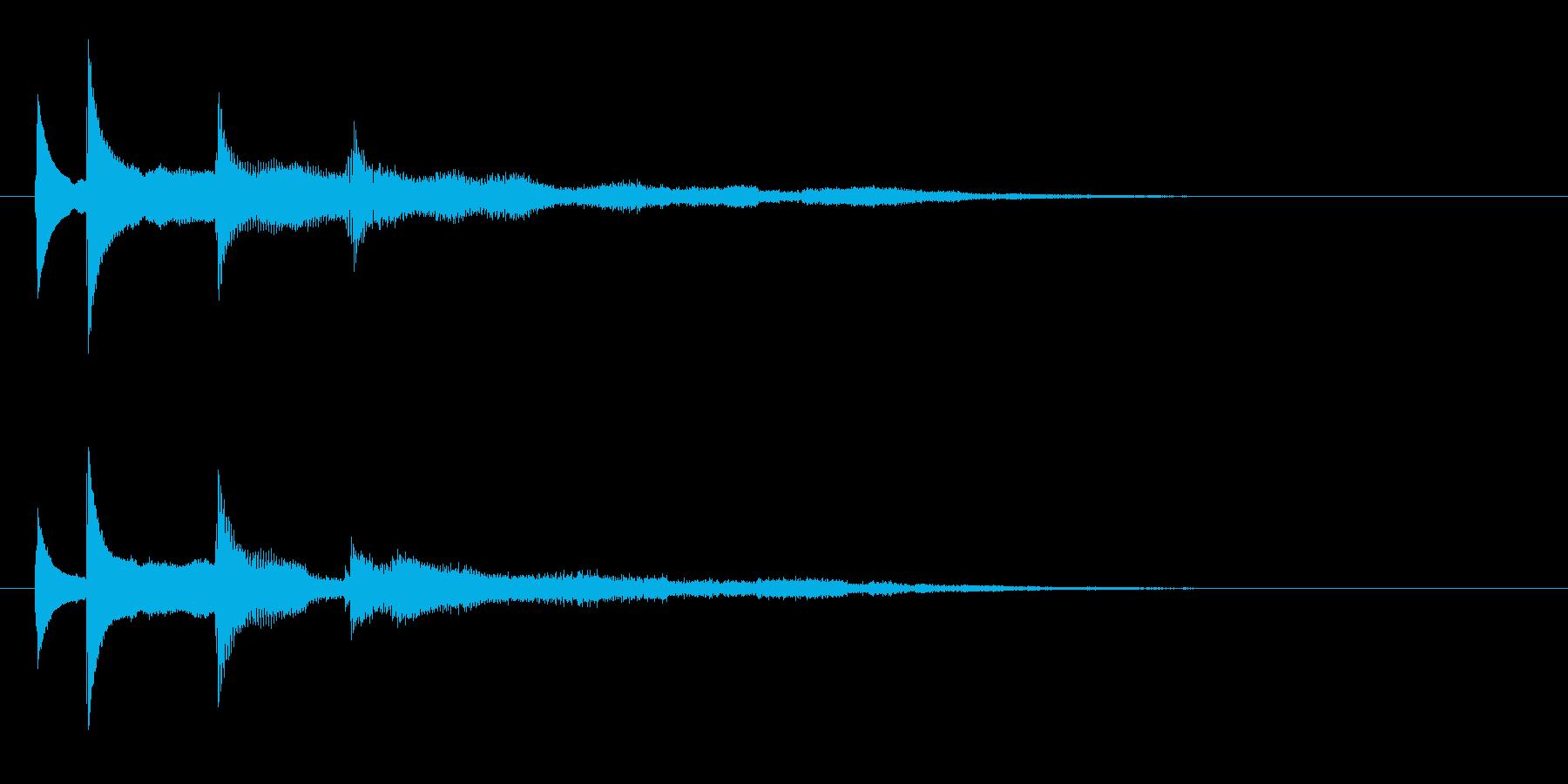 水とベルがテーマのアイキャッチの再生済みの波形