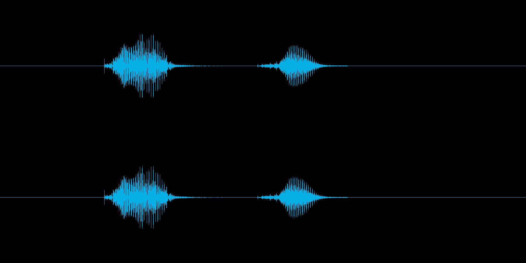 ぽちの再生済みの波形