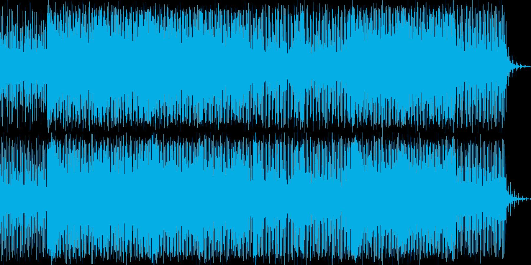 切ない感じのリフが印象的なポップスの再生済みの波形