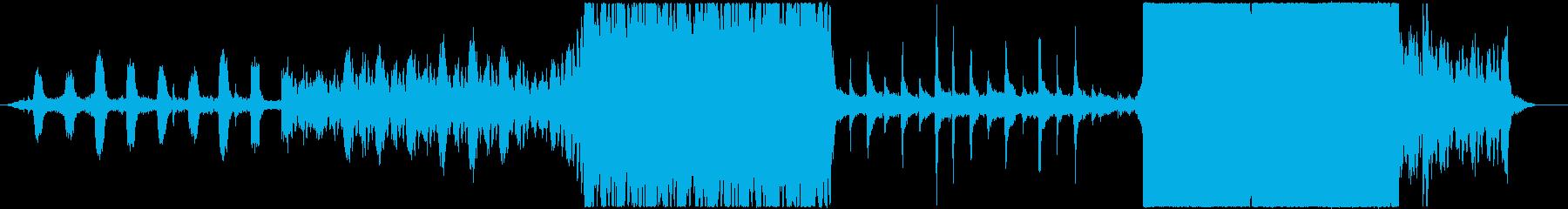 サスペンス映画のメインテーマの再生済みの波形